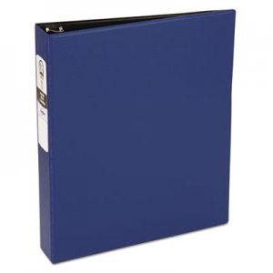 "Avery Economy Non-View Binder with Round Rings, 3 Rings, 1.5"" Capacity, 11 x 8.5, Blue AVE03400 03400"