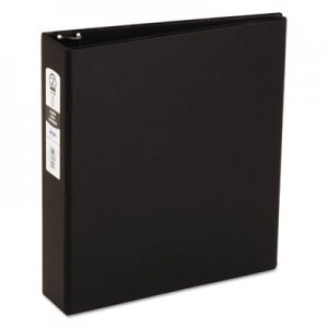 "Avery Economy Non-View Binder with Round Rings, 3 Rings, 2"" Capacity, 11 x 8.5, Black AVE03501 03501"