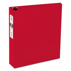 "Avery Economy Non-View Binder with Round Rings, 3 Rings, 2"" Capacity, 11 x 8.5, Red AVE03510 03510"