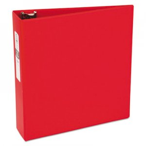 "Avery Economy Non-View Binder with Round Rings, 11 x 8 1/2, 3"" Capacity, Red AVE03608 03608"