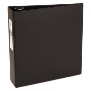 "Avery Economy Non-View Binder with Round Rings, 3 Rings, 3"" Capacity, 11 x 8.5, Black AVE03602 03602"