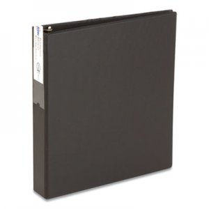 "Avery Economy Non-View Binder with Round Rings, 11 x 8 1/2, 2"" Capacity, Black AVE04501 04501"