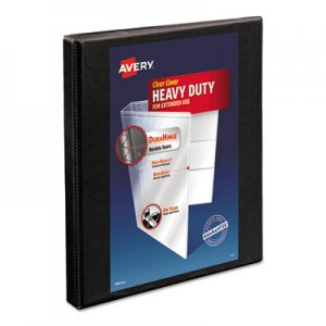 "Avery Heavy-Duty Non Stick View Binder w/Slant Rings, 1/2"" Cap, Black AVE05233 05233"