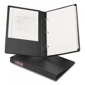 "Avery Legal Durable Non-View Binder with Round Rings, 3 Rings, 1"" Capacity, 14 x 8.5, Black AVE06400 06400"