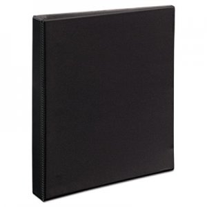 "Avery Durable View Binder with DuraHinge and EZD Rings, 3 Rings, 1"" Capacity, 11 x 8.5, Black AVE09300 09300"