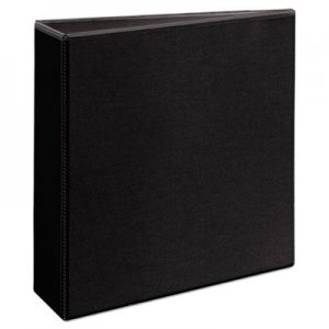 """Avery Durable View Binder with DuraHinge and EZD Rings, 3 Rings, 3"""" Capacity, 11 x 8.5, Black, (9700) AVE09700"""