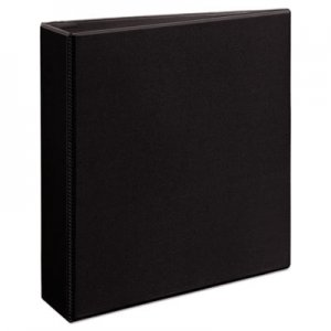 "Avery Durable View Binder with DuraHinge and EZD Rings, 3 Rings, 2"" Capacity, 11 x 8.5, Black AVE09500 09500"