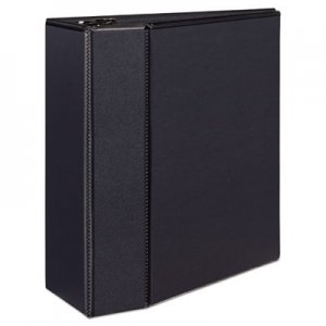 "Avery Durable View Binder w/Locking EZD Rings, 11 x 8 1/2, 5"" Cap, Black AVE09900 09900"