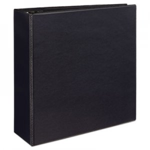 "Avery Durable View Binder with DuraHinge and EZD Rings, 3 Rings, 4"" Capacity, 11 x 8.5, Black AVE09800 09800"