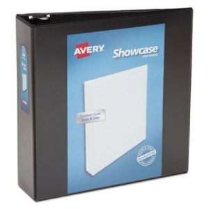 "Avery Showcase Economy View Binder with Round Rings, 3 Rings, 3"" Capacity, 11 x 8.5, Black AVE19750 19750"