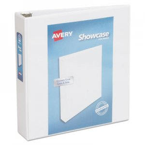 "Avery Showcase Economy View Binder with Round Rings, 3 Rings, 2"" Capacity, 11 x 8.5, White AVE19701 19701"