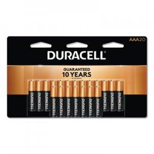 Duracell CopperTop Alkaline Batteries, AAA, 20/PK DURMN2400B20Z MN2400B20Z
