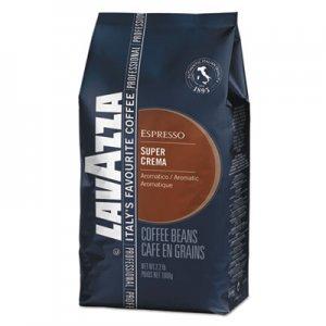 Lavazza Super Crema Whole Bean Espresso Coffee, 2.2lb Bag, Vacuum-Packed LAV4202 4202