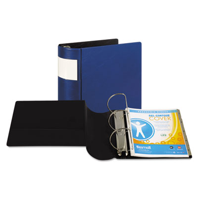 "Samsill DXL Heavy-Duty Locking D-Ring Binder With Label Holder, 5"" Cap, Dark Blue SAM17602 17602"