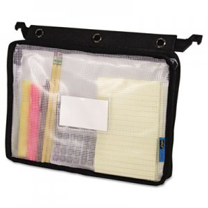 Advantus Expanding Zipper Pouch, 13 x 9 1/4, Clear/Black AVT50904 50904