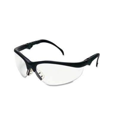 Crews Klondike Plus Safety Glasses, Black Frame, Clear Lens KD310 CRWKD310