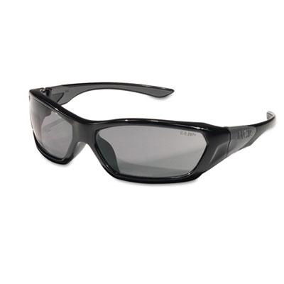Crews ForceFlex Safety Glasses, Black Frame, Gray Lens FF122 CRWFF122