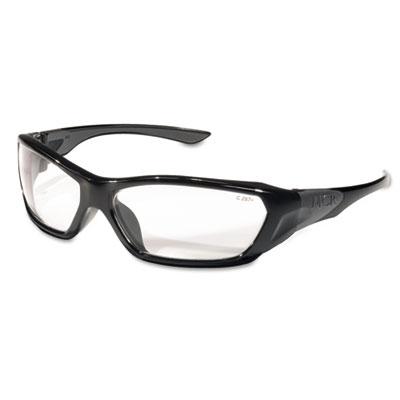 Crews ForceFlex Safety Glasses, Black Frame, Clear Lens FF120 CRWFF120