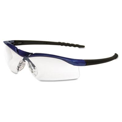 Crews Dallas Wraparound Safety Glasses, Metallic Blue Frame, Clear AntiFog Lens DL310AF CRWDL310AF
