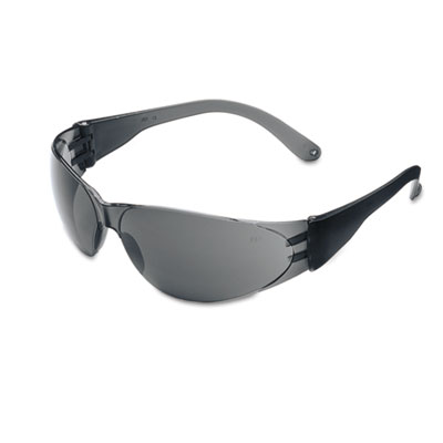 Crews Checklite Scratch-Resistant Safety Glasses, Gray Lens CL112 CRWCL112