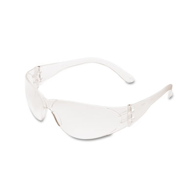 Crews Checklite Scratch-Resistant Safety Glasses, Clear Lens CL110 CRWCL110