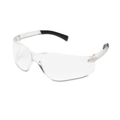 Crews BearKat Safety Glasses, Wraparound, Black Frame/Clear Lens BK110 CRWBK110