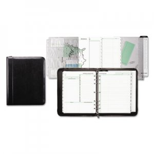 Day-Timer Aristo Bonded Leather Starter Set, 8 1/2 x 11, Black DTM84431 84431