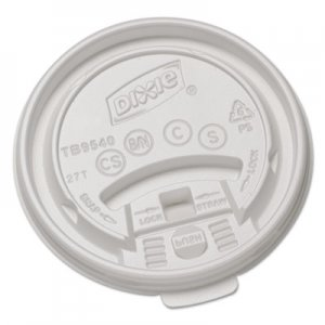 Dixie Plastic Lids for Hot Drink Cups, 10oz, White, 1000/Carton DXETB9540 TB9540