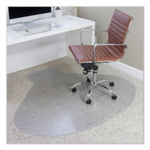 ES Robbins EverLife Chair Mats for Medium Pile Carpet, Contour, 66 x 60, Clear ESR122775 122775