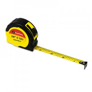 "Great Neck ExtraMark Power Tape, 5/8"" x 12ft, Steel, Yellow/Black GNS95007 95007"