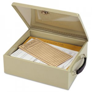SteelMaster Jumbo Cash Box w/Lock, Sand MMF221615103 221615103