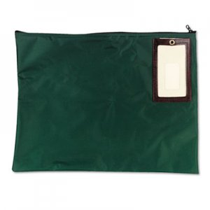 MMF Industries Cash Transit Sack, Nylon, 18 x 14, Dark Green MMF2341814N02 2341814N02