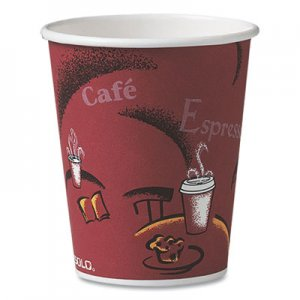 Dart Bistro Design Hot Drink Cups, Paper, 10oz, 1000/Carton SCC370SI 370SI-0041