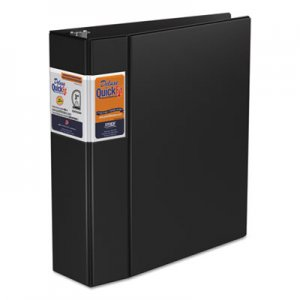 "Stride QuickFit D-Ring Binder, 3 Rings, 3"" Capacity, 11 x 8.5, Black STW29051 29051"