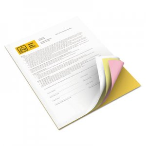 Xerox Revolution Digital Carbonless Paper, 8 1/2 x11, Wh/Can/Pink/Gldrod, 5,000 Sheets XER3R12430 3R12430
