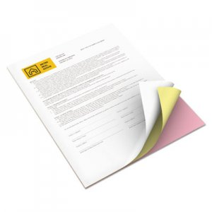 Xerox Revolution Digital Carbonless Paper, 8 1/2 x 11, Pink/Can/Wh, 5010 Sheets/CT XER3R12424 3R12424