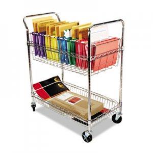 Alera Carry-all Cart/Mail Cart, Two-Shelf, 34-7/8w x 18d x 39-1/2h, Silver ALEMC3518SR