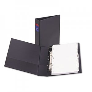 """Avery Legal Durable Non-View Binder with Round Rings, 3 Rings, 2"""" Capacity, 14 x 8.5, Black AVE06401 06401"""