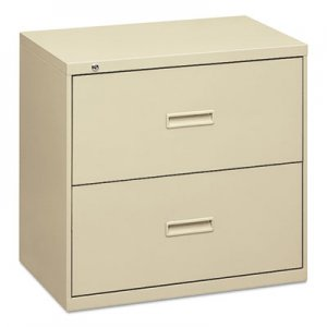 HON 400 Series Two-Drawer Lateral File, 36w x 19-1/4d x 28-3/8h, Putty BSX482LL H482.L