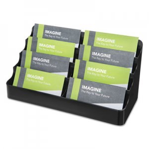 deflecto 8-Pocket Recycled Business Card Holder, 400 Card Cap, 7.88 x 3.38 x 3.5, Clear DEF90804