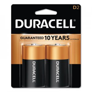 Duracell CopperTop Alkaline Batteries, D, 2/PK DURMN1300B2Z MN1300B2Z