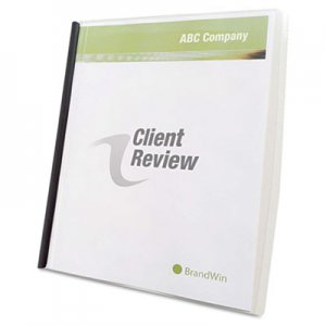 GBC Slide 'n Bind Report Cover, Letter Size, Clear, 10/Box GBC67504 67504