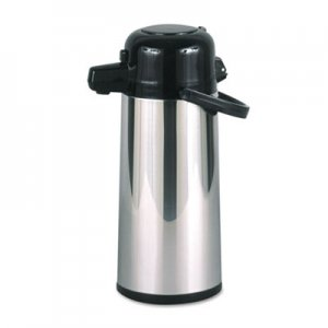 Hormel Commercial Grade 2.2L Airpot, w/Push-Button Pump, Stainless Steel/Black HORPAE22B PAE-22B