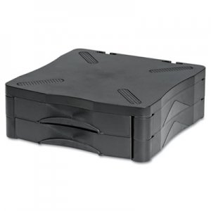 Kelly Computer Supply Adjustable Monitor Stand w/Double Storage Drawer, 13 x 13-1/2 x 4-3/4 to