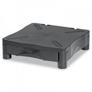Kelly Computer Supply Adjustable Monitor Stand w/Single Storage Drawer, 13-1/4 x 13-1/2 x 2-3