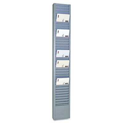 "SteelMaster 40-Pocket Steel Swipe Card/Badge Rack, 2-15/16"" x 18-11/16"" MMF20501 20501"