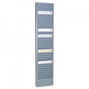 "SteelMaster 40-Pocket Steel Swipe Card/Badge Rack, 4-1/8"" x 18-11/16"" MMF20601 20601"