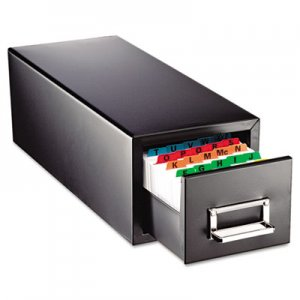 SteelMaster Drawer Card Cabinet Holds 1,500 5 x 8 cards, 9 7/16 x 16 x 7 1/2