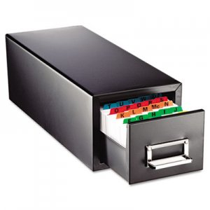 SteelMaster Drawer Card Cabinet Holds 1,500 3 x 5 cards, 7 3/4 x 18 1/8 x 7