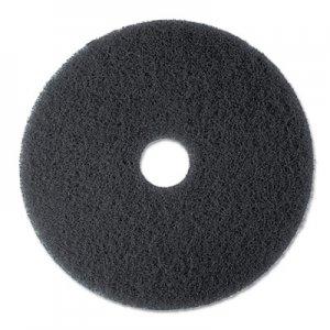 "3M High Productivity Floor Pad 7300, 17"" Diameter, Black, 5/Carton MMM08275 7300"